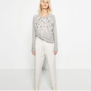 ZARA WHITE FLOWING DRESS PANTS JOGGERS TROUSERS